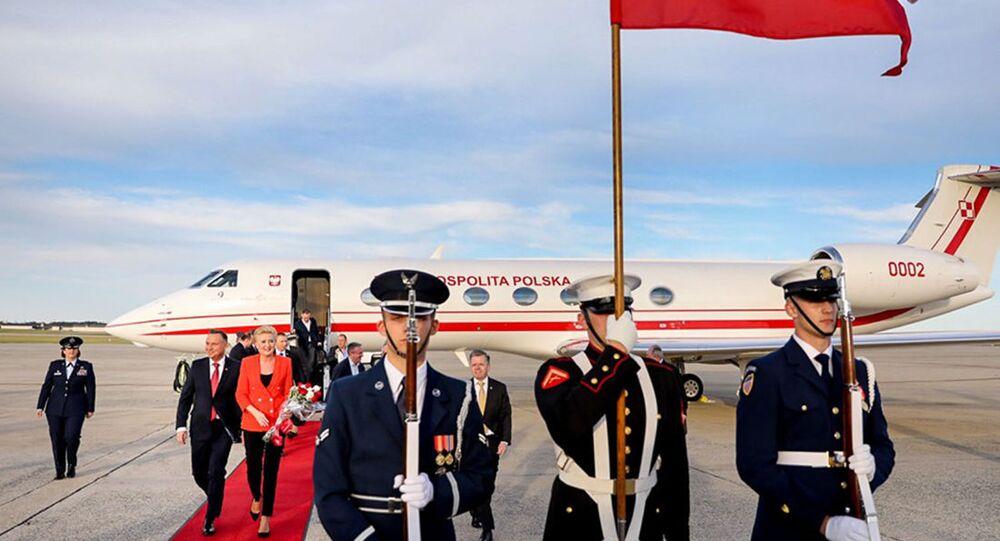 Prezydent Andrzej Duda z małżonką podczas oficjalnej wizyty w USA