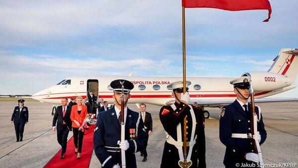 Prezydent Andrzej Duda z małżonką podczas oficjalnej wizyty w USA  - Sputnik Polska