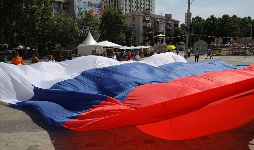 Flash mob Lubię Rosję w Krasnodarze