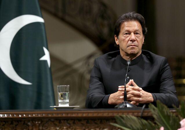 Pakistański premier Imran Khan. Archiwalne zdjęcie