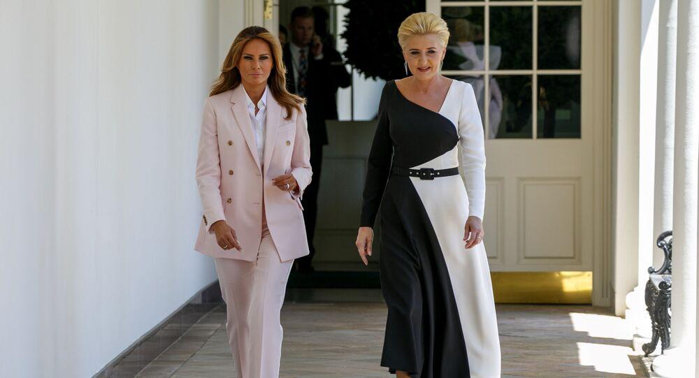 Agata Duda i Melania Trump