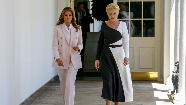 Agata Duda i Melania Trump  - Sputnik Polska