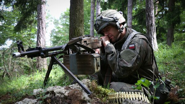 Polski żołnierz na ćwiczeniach - Sputnik Polska