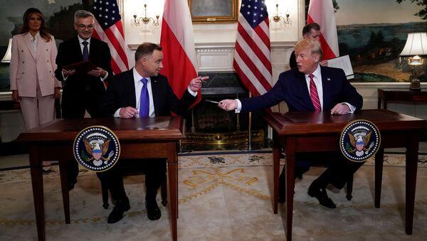 Duda i Trump  - Sputnik Polska