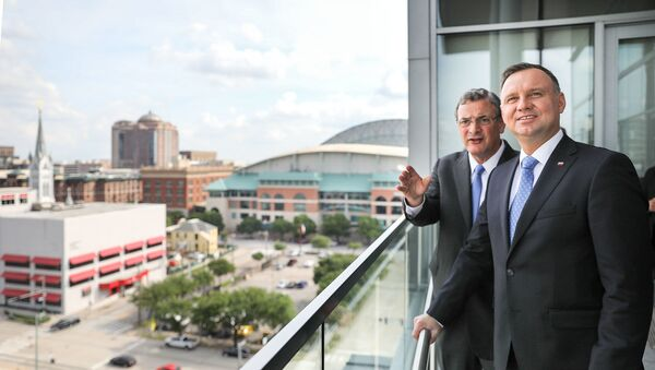 Andrzej Duda i Bob Harvey, Prezes i CEO Greater Houston Partnership - Sputnik Polska