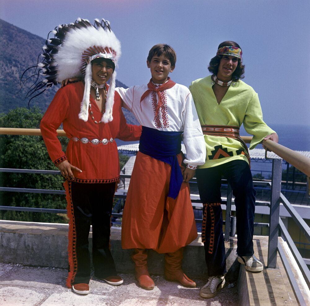 Pionierzy z zagranicy w obozie Artek, 1973 rok
