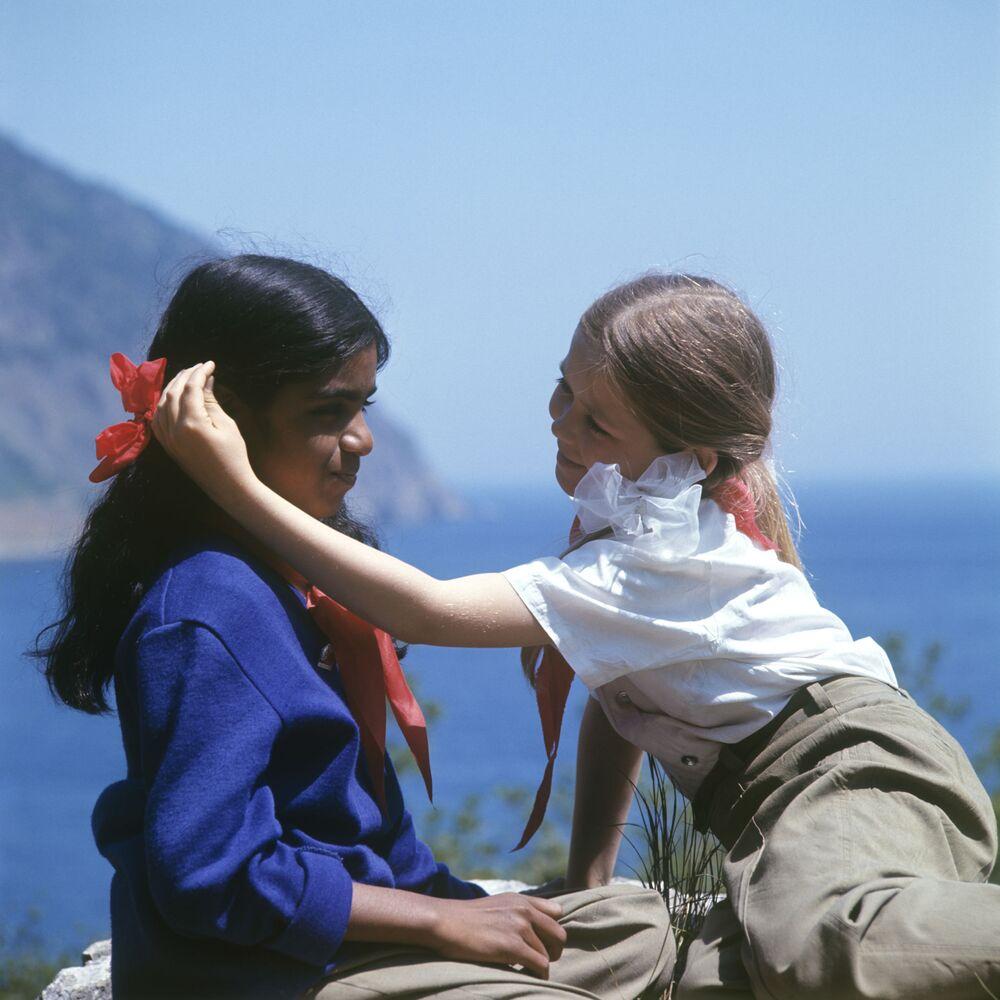 Dzieci w obozie Artek, 1974 rok