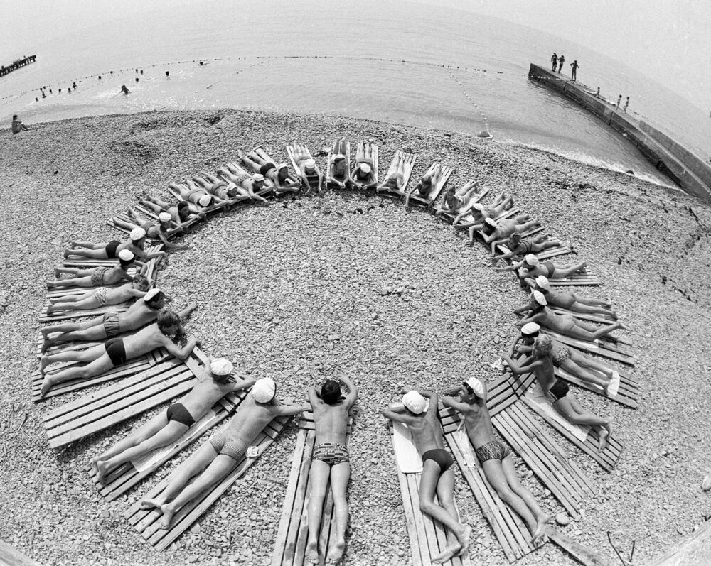 Na plaży w Arteku, 1985 rok