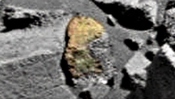 Skała z wykutym wizerunkiem człowieka-gada na Marsie - Sputnik Polska