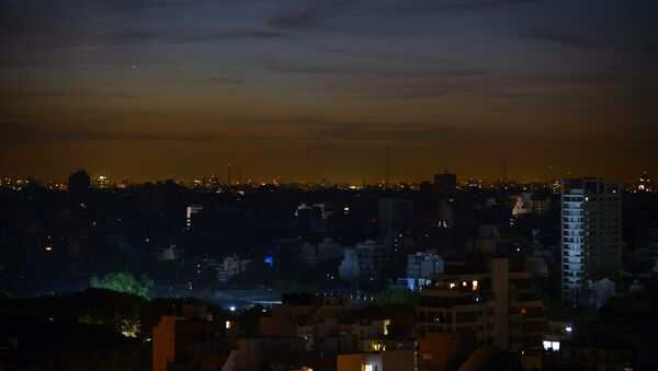 Przerwa w dostawie prądu. Argentyna - Sputnik Polska