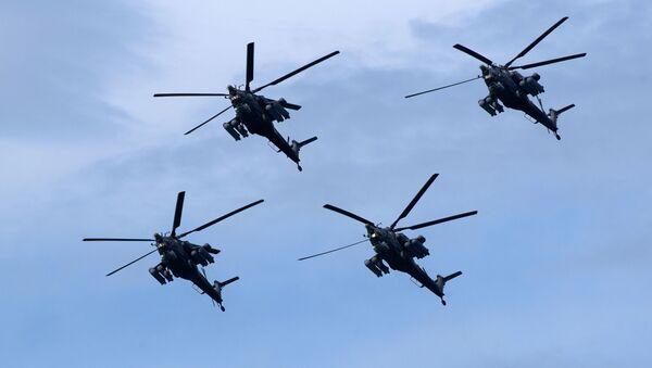 """Śmigłowce szturmowe Mi-28N """"Nocny Łowca"""" - Sputnik Polska"""