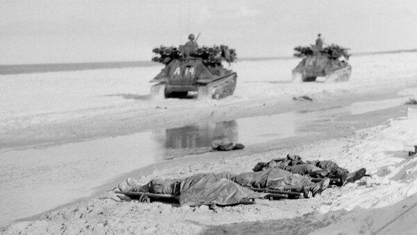 Ciała zabitych amerykańskich piechurów morskich. Wojna w Wietnamie, 1967 rok - Sputnik Polska