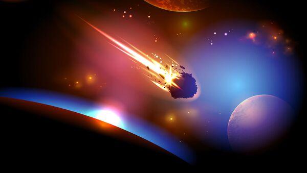 Zbliżenie się asteroidy do Ziemi - Sputnik Polska