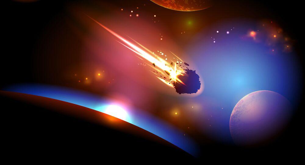 Zbliżenie się asteroidy do Ziemi