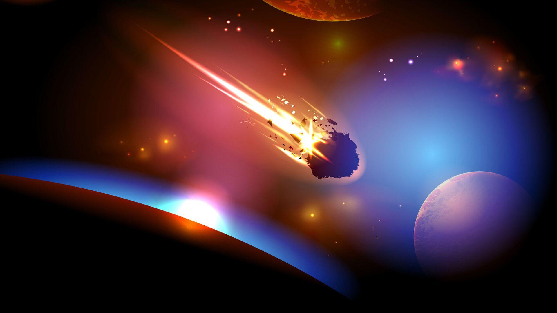 Zbliżenie się asteroidy do Ziemi - Sputnik Polska, 1920, 09.07.2021