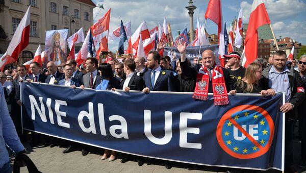 Marsz przeciw UE w Warszawie - Sputnik Polska