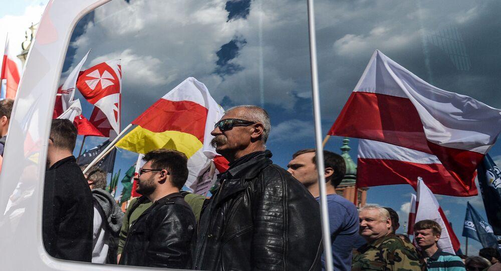 Marsz przeciwko UE w Warszawie