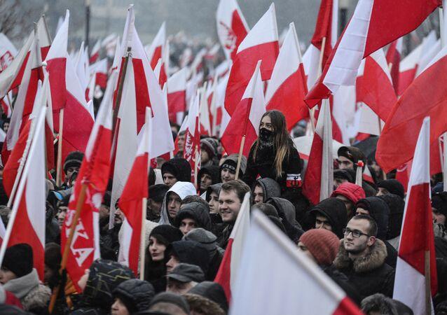 Marsz niepodległości w  Warszawie