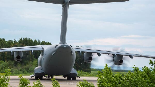 Samolot NATO Airbus A400M z Niemiec, lotnisko w Kemerowie - Sputnik Polska