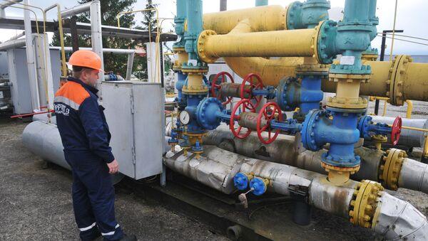 Tłocznia gazu Wołowiec w obwodzie zakarpackim  - Sputnik Polska