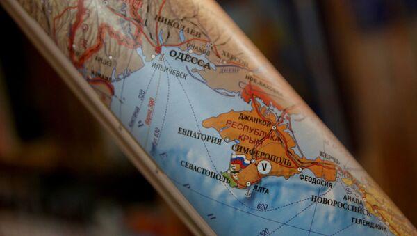 Polityczna mapa Europy, na której Krym jest częścią Rosji - Sputnik Polska