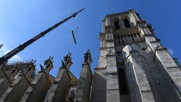 Katedra Notre Dame w Paryżu po pożarze - Sputnik Polska