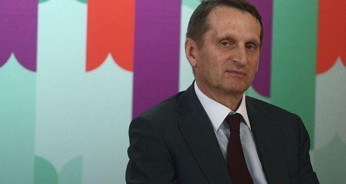 Dyrektor Służby Wywiadu Zewnętrznego Federacji Rosyjskiej Siergiej Naryszkin