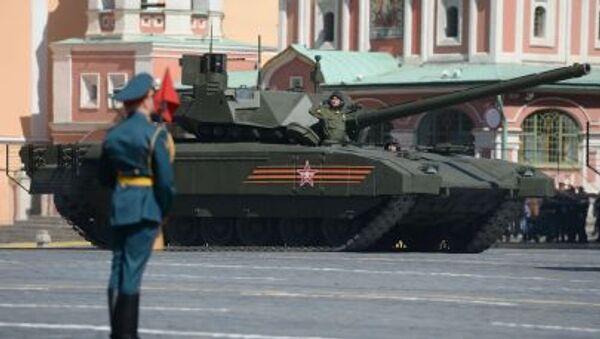 Czołg Т-14 podczas próby generalnej defilady wojskowej - Sputnik Polska