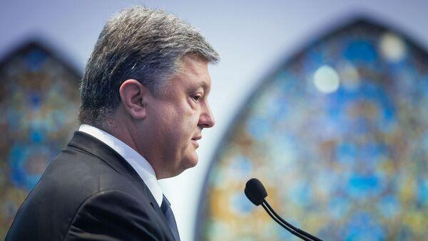 Prezydent Ukrainy Petro Poroszenko - Sputnik Polska