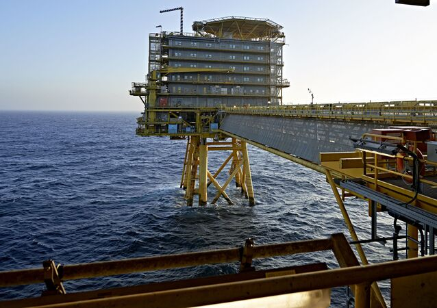 Platforma Wiertnicza Moller-Maersk na wodach Morza Północnego