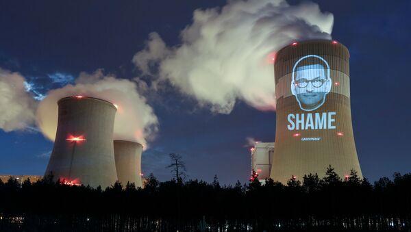 Protest Greenpeace na elektrowni w Bełchatowie - Sputnik Polska