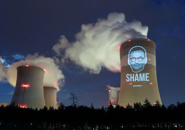 Protest Greenpeace na elektrowni w Bełchatowie