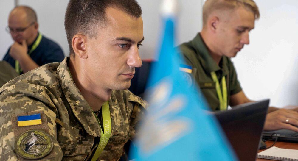 Ukraińscy wojskowi na ćwiczeniach CWIX 2019 w Polsce
