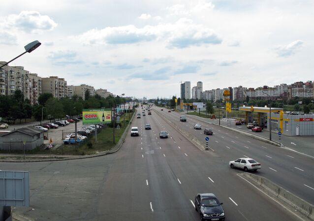 Widok na aleję generała Watutina w Kijowie