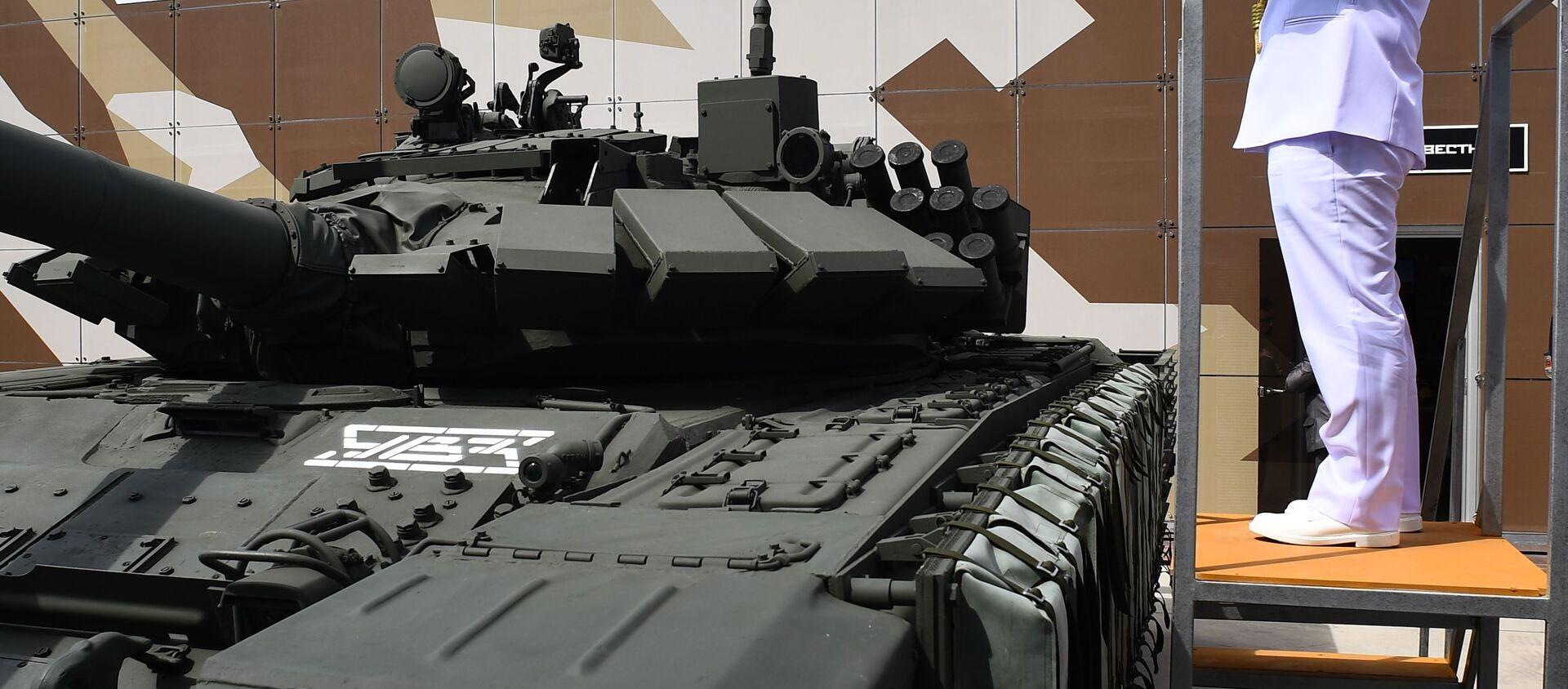 """Czołg konstrukcji radzieckiej T-72 na Międzynarodowym Forum Wojskowym """"Armia-2019""""   - Sputnik Polska, 1920, 29.07.2019"""