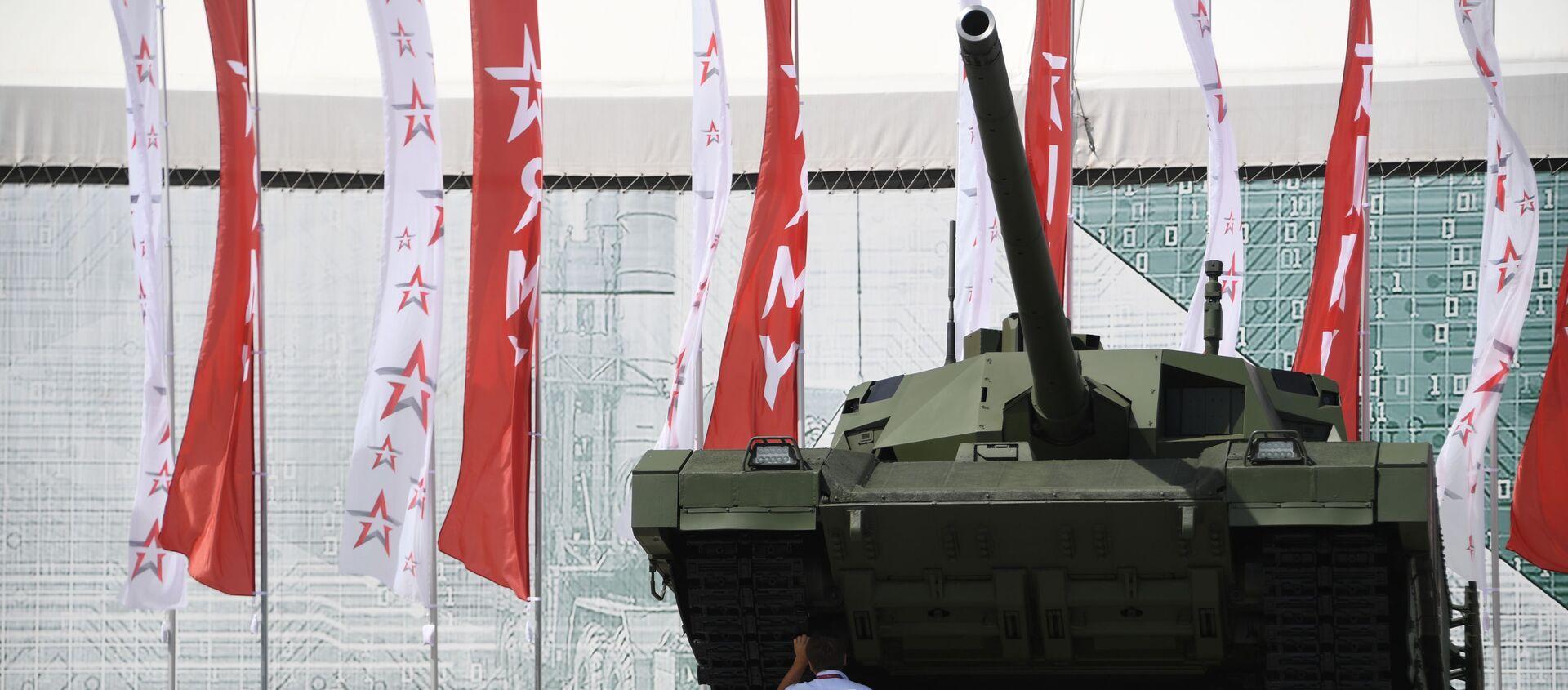 """Rosyjski czołg T-14 Armata na Międzynarodowym Forum Wojskowym """"Armia-2019""""   - Sputnik Polska, 1920, 04.02.2021"""