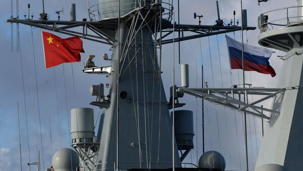 Rosyjsko-chińskie manewry Morskie współdziałanie-2017 - Sputnik Polska