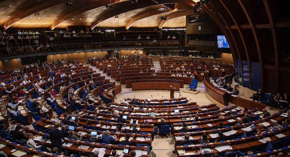 Sala posiedzeń Zgromadzenia Parlamentarnego Rady Europy