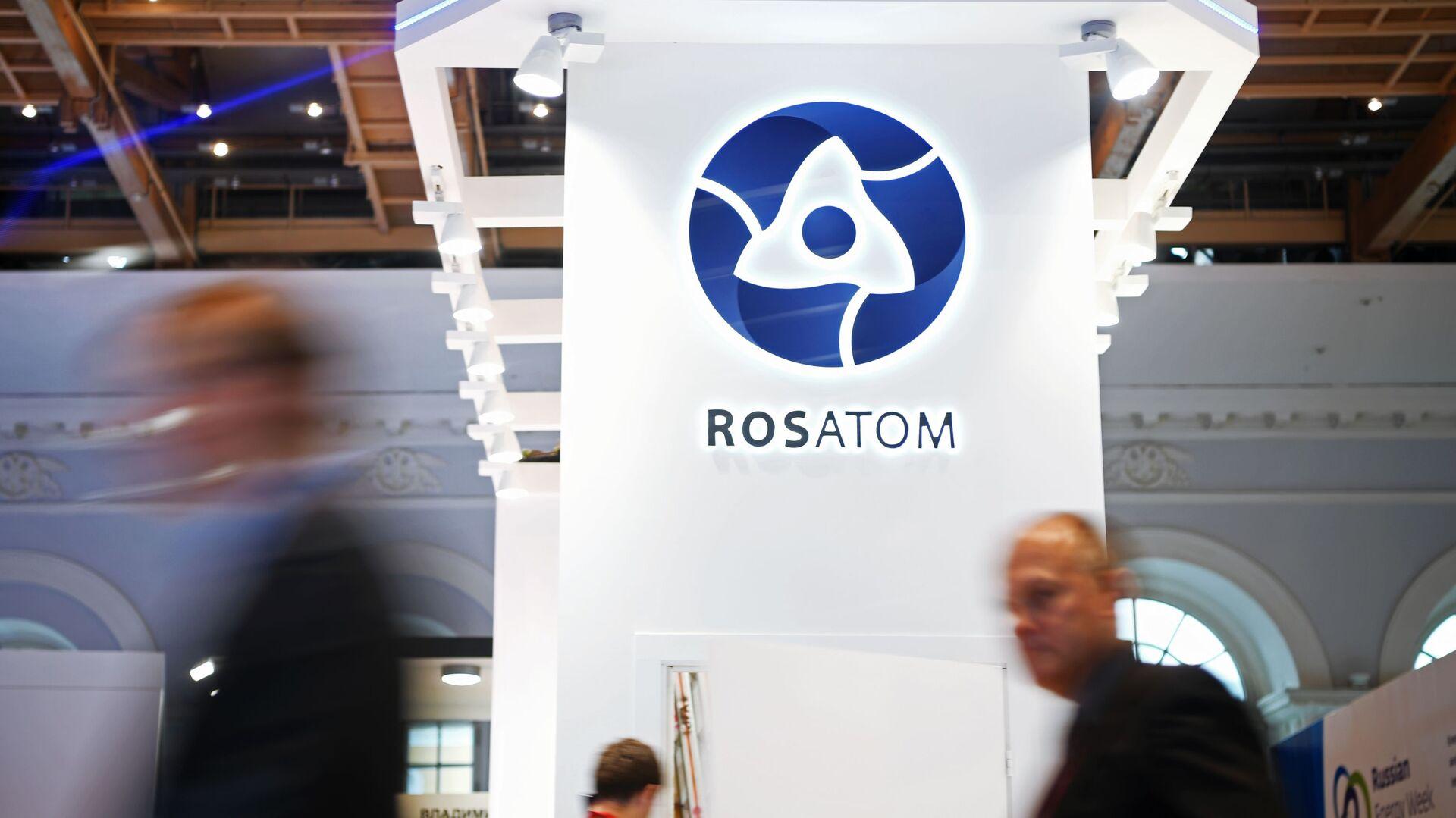 Goście u stanowiska państwowej korporacji Rosatom w czasie forum Russian Energy Week - Sputnik Polska, 1920, 06.07.2021