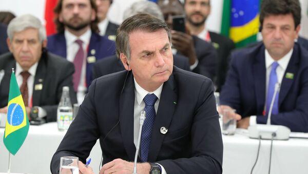 Prezydent Brazylii Jair Bolsonaro na szczycie G20 w Osace - Sputnik Polska