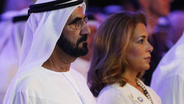 Mohammed bin Rashid al-Maktoum z żoną Haya bint al-Hussein  - Sputnik Polska