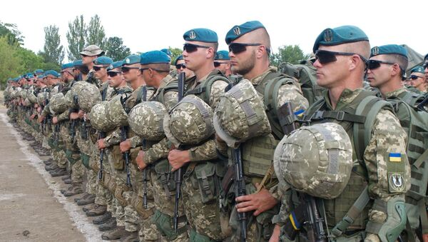 Ukraińscy żołnierze w dniu rozpoczęcia międzynarodowych ćwiczeń morskich Sea Breeze 2019 w Odessie - Sputnik Polska