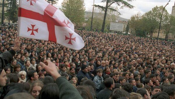 Protest w dniach 22-23 listopada w Tbilisi - Sputnik Polska