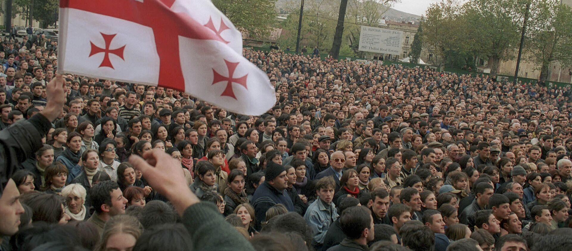 Protest w dniach 22-23 listopada w Tbilisi - Sputnik Polska, 1920, 18.02.2021