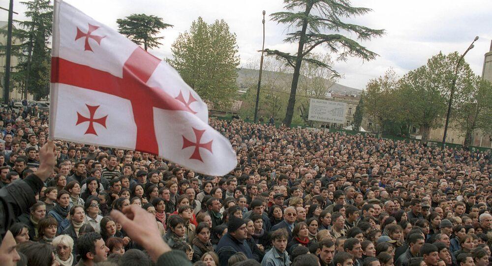 Protest w dniach 22-23 listopada w Tbilisi