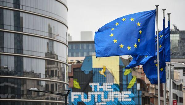 Flagi Unii Europejskiej - Sputnik Polska