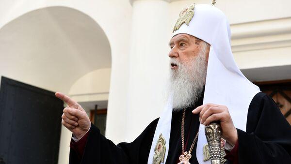 Przywódca niekanonicznego Ukraińskiego Kościoła Prawosławnego Patriarchatu Kijowskiego Filaret  - Sputnik Polska