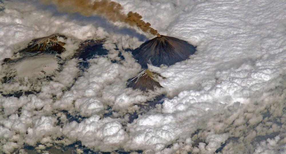 Erupcja wulkanu Kluczewska Sopka