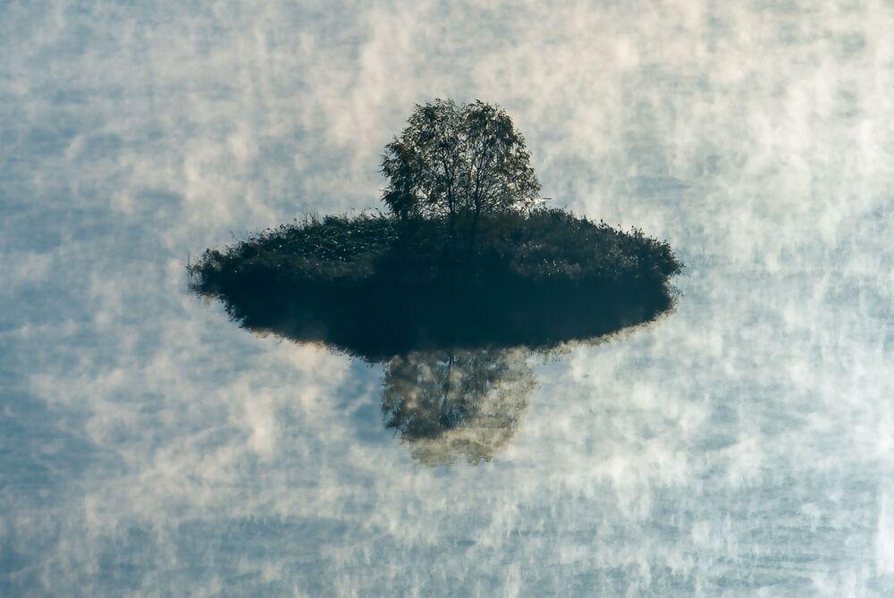 Widok na rejon ruzski obwodu moskiewskiego z lotu ptaka