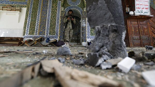 Wybuch w meczecie w Sanie, Jemen - Sputnik Polska